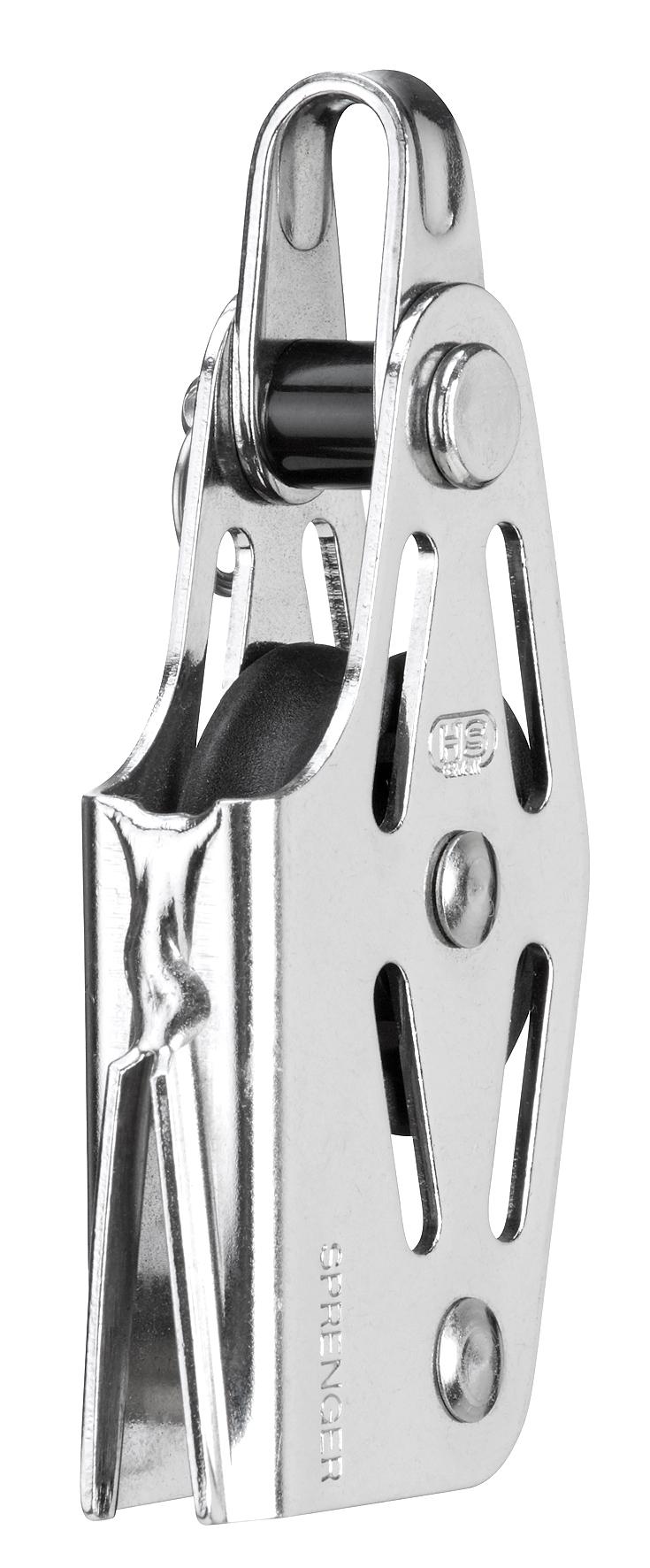 Sprenger Block für 6 - 12mm Schot Kunststoffrollen mit Gleitlager ...